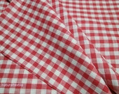 """100% LINEN Tablecloth + 10 Napkins Set - PROVENCE STYLE Red and White Large - 59""""x138"""""""
