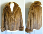 Vintage BROWN FUR COAT/Size Small-Medium-Large