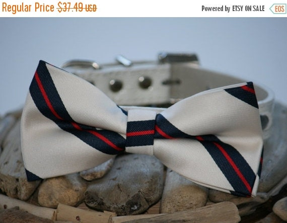 Dog Bow tie, Bow attached to dog collar, dog collar, Pet wedding accessory, dog lovers, dog birthday gift