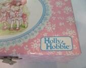 RESERVED Holly Hobbie jewely box 1970's musical ballerina jewelry box little girl keepsake windup storage Holiday gift room decor