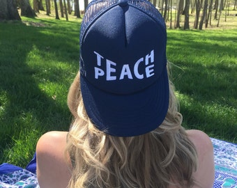 Teach Peace Hat || Navy