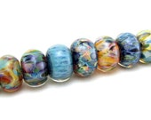 SRA Handcrafted Artisan Lampwork Beads - Borosilicate Orphans/Singles - Set 6