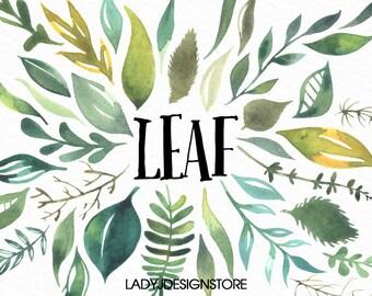 Leaf Watercolor Painting,Leaf Print, Plant Watercolor Print, Leaf Art, Garden Leaf Watercolor Painting