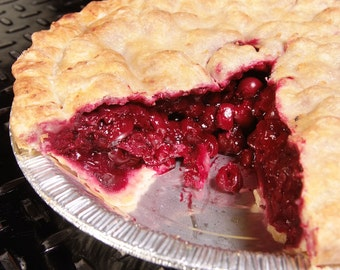 """Cherry Pie, With second pie of your choice, great gift for Mom, """"FREE SHIPPING"""" Gourmet Cherry pie, Homemade Pie with Handmade Crust"""
