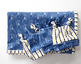 Organic Cotton Dandelion Baby Blanket