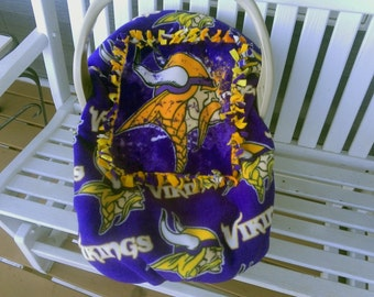 MINNESODA VIIKINGS  Fleece Infant Baby Carrier Cover, Car Seat Cover, ( It is purple and not blue )NFL, Boys, Girl
