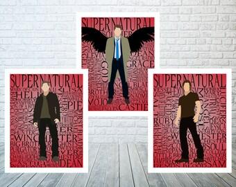 Supernatural Minimalist Print Set