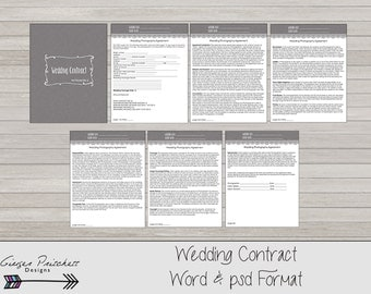 Wedding Photography Contract business forms - 7 psd and word pages