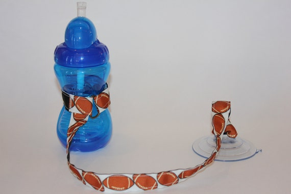 Sippy Cup Leash Sippy Strap Sippy Cup Strap Suction Cup Bottle Tether Sippy Cup Strap Suction Sippy Strap Football Baby Boy