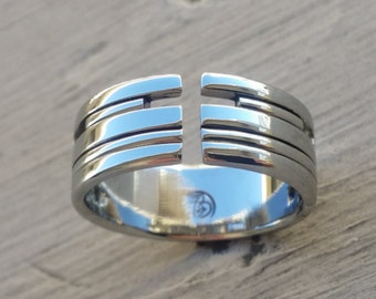 """06 """"AMOUR"""" handmade stainless steel ring (not casted)"""