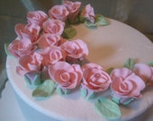 Edible Gumpaste Roses And Leaves