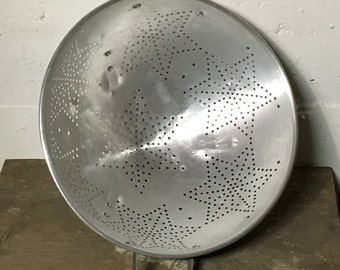 Star Colander, Metal Colander, Aluminum Strainer, Star Strainer,Metal Kitchen Decor, Vintage Kitchenalia, Country Kitchen, Farmhouse Kitchen