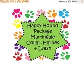 Sale 50% Off Happy Hound Package - Martingale Collar, Leash and Traditional or Step-In Harness!, Dog Harness Set