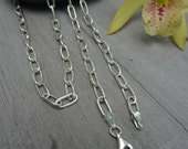 Sterling silver chain. Long sterling chain.