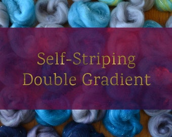 Self-Striping Double Gradient - Spinning Batt Tutorial - Handspun Yarn Tutorial
