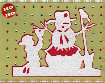 Handmade Christmas card blingy