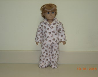 American girl doll pajamas with matching slippers