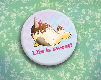 Cone-whal Life is Sweet button