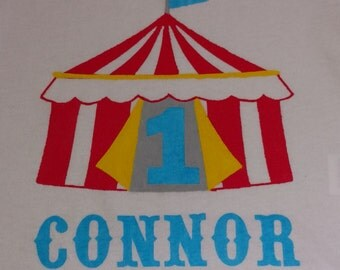 Carnival or Circus Theme Personalized 1st Birthday - Onesie or T-Shirt