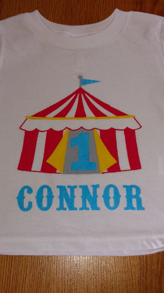 carnival or circus theme personalized 1st birthday onesie or