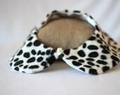 Dalmatian Fur Peter Pan Collar