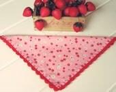 sweet pink fruit hankie