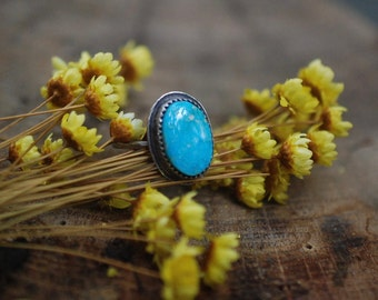 Made To Order, Turquoise Mountain, Turquoise Ring, Midi Ring, Sterling Silver Ring, Stacking Ring, Turquoise jewelry