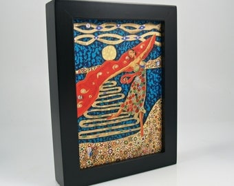 Framed 5x7 Canvas Giclee Fine Art Print, Dancer, Figure, Ready to Hang, Art and Collectibles, Sun Dancer, Museum Quality
