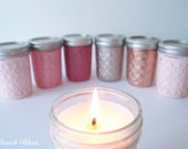 Mother's Day Gift for Her Candle Mason Jar Soy Candles Painted Mason Jars Home Decor (1) Candle Pink Red Rose Gold Copper
