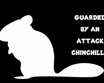 Attack Chinchilla Vinyl Decal