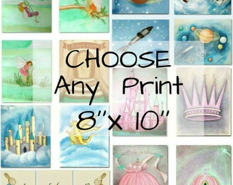 Choose any Art Print  8''x 10'' of my shop for Nursery or Kids room wall Decor, Nursery Art, Kids Wall Art, Nursery Decor, Nursery Prints