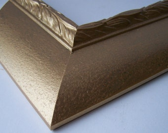 16 x 20 Ready to Ship Picture Frame ~ Large Moulding ~ Ornate Leaf ~ Gold Mine ~ 3 inch Wide x 1 inch tall x 7/16 inch rabbet