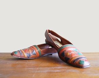Vintage Leather Sandals Liz Claiborne Size 8 Narrow Huaraches