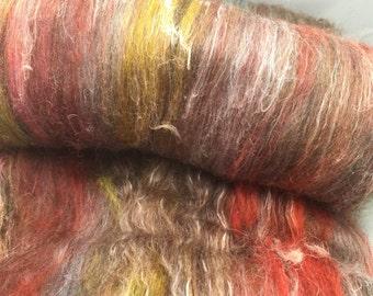 New Zealand corriedale merino and linen carded batt