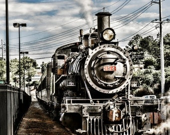 Steam Travel Journey Knoxville Tennessee Tourism Train Engine Railroad Rail Transportation 154 Photo