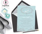 CINDERELLA Princess Bridal Shower Invitation Printable
