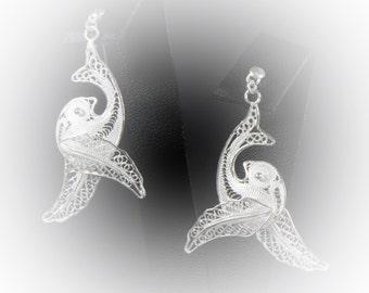Earrings Silver Dove