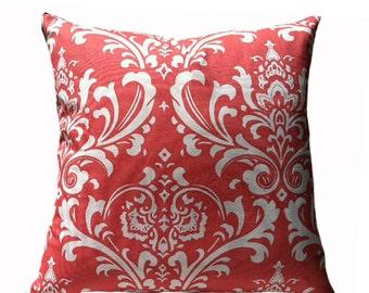 Decorative Pillow Euro Sham Cover Ozborn Coral 12 14 16 18 20 24 26 30 36 inches