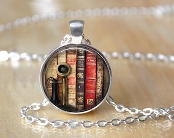 Mini Library Necklace - Mini Book Necklace - Book Necklace - Literacy Gift - Book Lover Gift - Library Necklace - Literacy Necklace L43