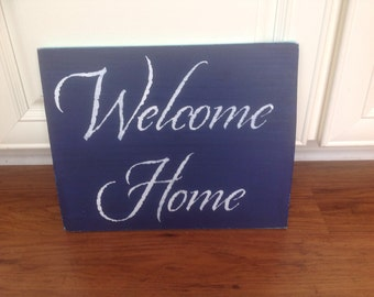 Welcome Home sign custom colors