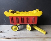Vintage Circus Wagon Toy Barbara Willis Primitive Artwork