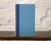 """College Notebook Tartuensis College """"feeling Blue"""" from Salvaged Book Covers"""