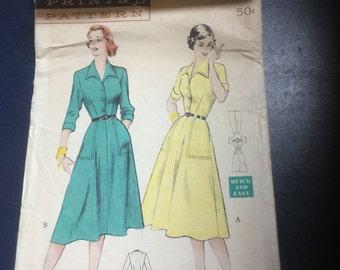 Vintage Butterick 5892 Ladies Dress