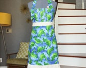 Blue Aprons for Women, Chef Apron, Dragon Womens Aprons,  Cute Aprons, Vintage Kitchen Aprons Women
