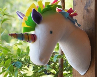 "Unicorn Wall Decor 35cm (13.5"") high - made to order"