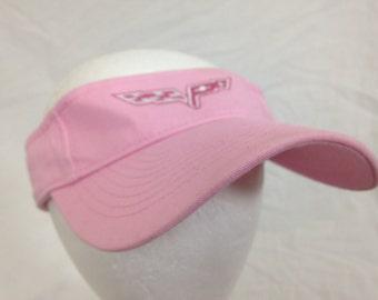 pink corvette visor hat
