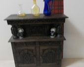 1/12th Medieval Tudor old hutch/chest/cupboard perfect for scary \goth scenarios too