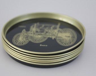 Vintage, original 6 piece coaster set by GWS, Finland