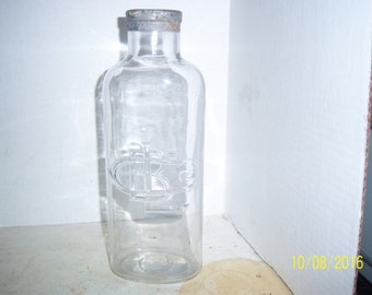 1920's LB CO Lashes Bitters Co 11 1/4  inch tall  clear medicine bottle NO 1
