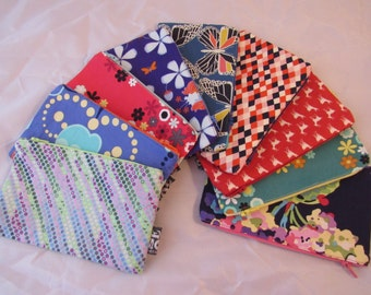 Zipped purses